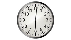 Loopable video animation of timelapse of clock stock video