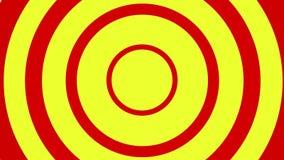 Loopable video 4k för röd och gul krusig rörelsebakgrund royaltyfri illustrationer