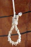 Loope bianco del patibolo Immagini Stock Libere da Diritti