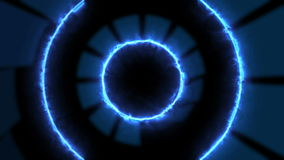 Looped Abstract technology tunnel. HD stock footage
