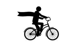 Looped animated pictogram cyclist