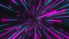 Looped animation. Interstellar travel through space and time at the speed of light.