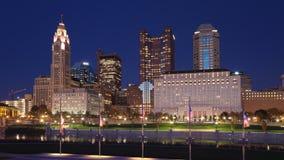 Looped day to night timelapse of Columbus, Ohio, United States 4K stock footage
