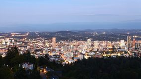 Looped day to night timelapse of Portland, United States 4K stock footage