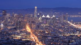 Looped day to night timelapse of San Francisco, California, United States 4K stock video footage
