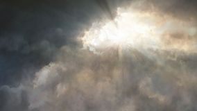 Looped flight through the storm clouds stock footage
