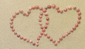 Looped Heart from shells Stock Photography
