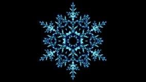 Sparkling Blue Christmas Winter Snowflake Lights Bokeh Loop