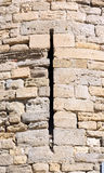 Loophole. Of one of the towers of the wall of the Cite of Carcassonne Royalty Free Stock Photos