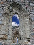 Loophole. Loophole in a wall of medieval castle Cesis, Latvia Royalty Free Stock Images