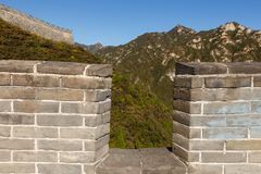 Loophole in the great wall of china. China stock photos