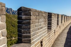 Loophole in the great wall of china. Brick wall fragment, china stock photography