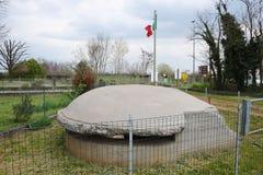 Loophole, Ponzano, Veneto. Loophole and memorial in Ponzano, in Veneto, Treviso region Royalty Free Stock Images