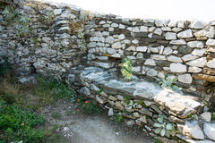 Loopholes in the walls of the fortress Asenova Royalty Free Stock Photography