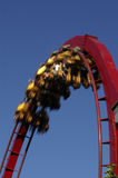 Looping. A rollercoaster in a looping; motion-blur on the cabin Stock Image