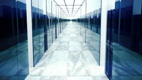 Looping animation of data servers in data center stock footage