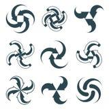 Looping arrows vector abstract symbol collection. Single color conceptual special made 3d icon set Stock Photos