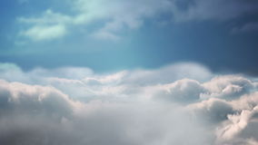 Looping blue sky with clouds stock video footage
