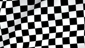 Looping Checkered flag background stock video