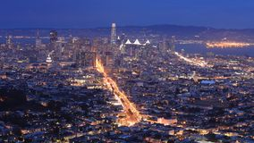 Looping day to night timelapse of San Francisco, California, United States 4K stock footage