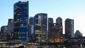 Looping day to night timelapse of Sydney, Australia 4K stock footage