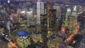 Looping day to night timelapse of Toronto, Ontario, Canada 4K stock video