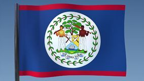 Looping Flag of Belize stock footage