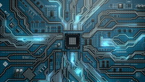 Looping futuristic of electronic board stock video