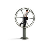 Looping life for a businessman stock photos