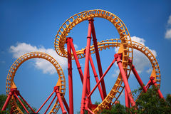 Looping Roller Coaster Royalty Free Stock Photos