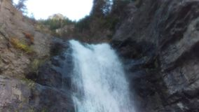 Upper Falls Loop in Autumn. A looping shot of Upper Falls in Provo Canyon, Utah stock footage