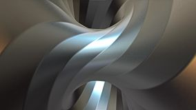 Looping steel twisted torus tunnel animation. Variation 1 stock video