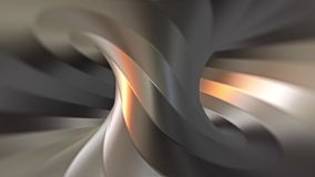 Looping steel twisted torus tunnel animation. Variation 3 stock video
