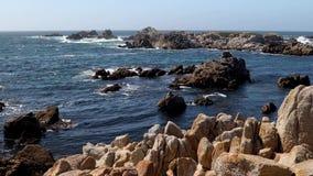 Rocky Monterey peninsula coast loop stock footage