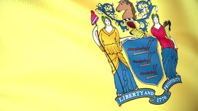 Flag of New Jersey stock footage