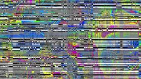 Looping video interference footage. Imitation of a Datamoshing video. Abstract fast flickering texture with artifacts codec. Looping video interference footage stock video footage