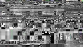 Looping video interference footage. Imitation of a Datamoshing video. Abstract fast flickering texture with artifacts codec. Looping video interference footage stock footage