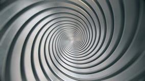 Loopingu metalu spirala ilustracji
