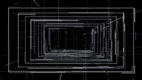 Loopingu PNG HUD alfa tunel z liniami i prostokątami ilustracja wektor