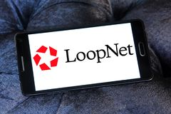 LoopNet company logo. Logo of LoopNet company on samsung mobile. LoopNet is the most heavily trafficked commercial real estate marketplace online . Its primary Stock Photo