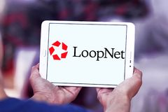 LoopNet company logo. Logo of LoopNet company on samsung tablet. LoopNet is the most heavily trafficked commercial real estate marketplace online . Its primary Royalty Free Stock Photography