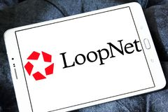 LoopNet company logo. Logo of LoopNet company on samsung tablet. LoopNet is the most heavily trafficked commercial real estate marketplace online . Its primary Stock Photos