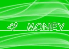 Looppas aan geld Royalty-vrije Stock Afbeeldingen