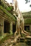 Looppas van oude Cambodjaanse tempel Stock Afbeeldingen