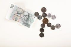 Looppas voor geld Stock Foto's