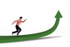 Looppas voor succes stock illustratie