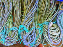 Loops of coloured rope Royalty Free Stock Image