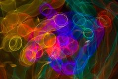 Loops Light Graffitti Stock Photography