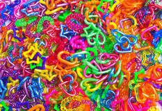 Loops plastic background Royalty Free Stock Image
