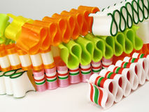 Loops of Ribbon Candy Stock Photography